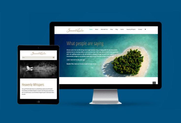 Simone Leslie website by Jules Ober